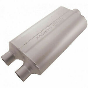 Flowmaster 524553 Universal Muffler Super 50 Series 2 25 Dual In 3 Center Out