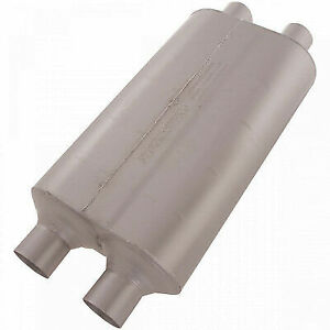 Flowmaster 524554 Universal Muffler Super 50 Series 2 25 Dual In 2 25 Dual Out