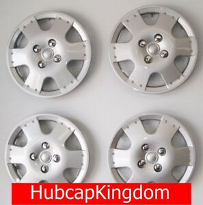 New Set Of 14 Wheelcovers Hubcaps That Fit 2000 2001 2002 Toyota Echo