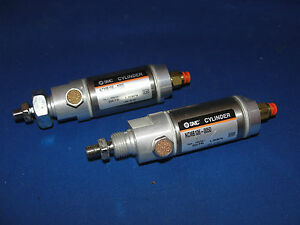Smc Pneumatic Cylinder Ncmb106 0050 250psi 1 70 Mpa Lot Of 2