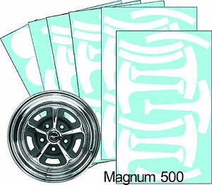 Mustang Magnum 500 15 Wheel Paint Mask Stencil Kit