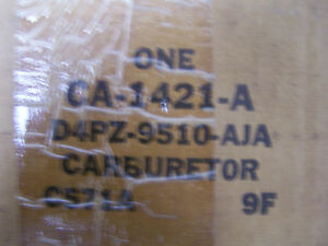 Nos Ford 1 Barrel Carburetor Ca1421a Model Rbs 1 283 4 1l 250 L6 Torino Ranchero