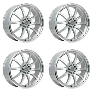 Icw Racing 211ms Bonzai 211ms 7750342 Qty 4 Rims 17x7 5 42mm 4x100 Titan Silver