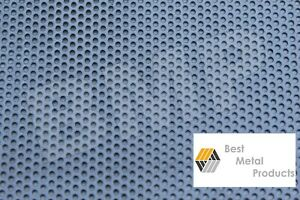 304 Stainless Steel Perforated Sheet 040 X 18 X 18 1 8 Holes 0600103