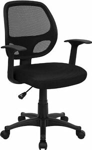 Flash Furniture Mid back Black Mesh Ergonomic Computer Home Office Chair New