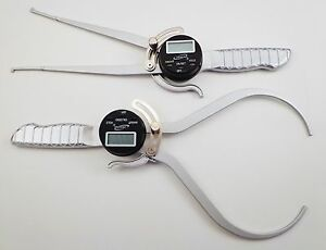 Pair 8 Outside Od And Inside Id Digital Electronic Gauge Calipers