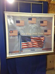 Nystrom 1ftcg Chart Map Of Our Flag Over Time Our Country S Government Usa