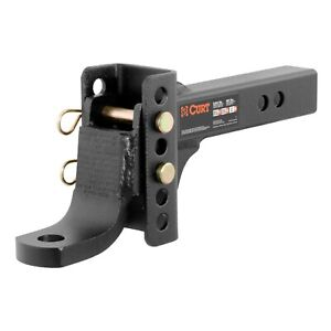 Curt 45901 Channel style Adjustable Ball Mount For 2 Receivers