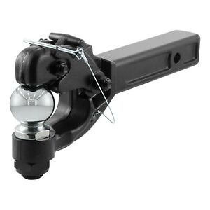 Curt 48006 Receiver Mount Combination Ball Pintle Hook For 2 Receivers