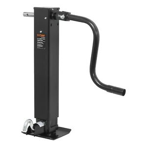 Curt 28512 Heavy Duty Direct Weld Square Jack Side Wind 10000 Lb Lift Capacity