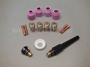 Stubby Tig Welding Gas Lens Kit For 17 18 26 Series Torches Made In Usa