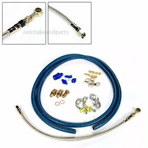 Rev9 Turbo Oil Water Feed Drain Line Kit T25 T28 G28 Gt25 Gt28 Gt32