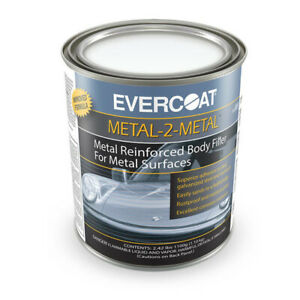 1 Quart Evercoat Metal 2 Metal Reinforced Body Filler 889 Auto Aluminum Repair