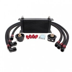 Rev9 19 Row Oil Cooler Relocation Kit Turbo Na Ek Da B16 B18 S2000 Civic Integra