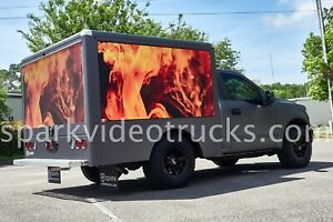 Digital Mobile Billboard Advertising Trucks With Super Bright Led Digital Video