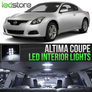 White Led Lights Interior Kit Package Bulbs For 2008 2013 Nissan Altima Coupe