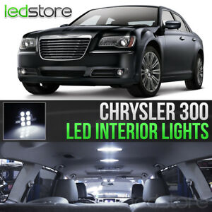 2011 2017 Chrysler 300 White Interior Led Lights Kit Package