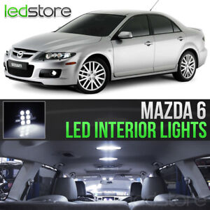 2003 2008 Mazda 6 White Led Lights Interior Kit Package Bulbs Mazdaspeed