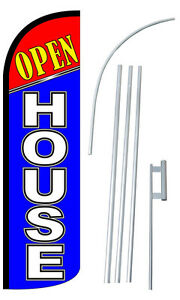 Open House Feather Flag Sign Blade Banner 30 Wider Super Swooper