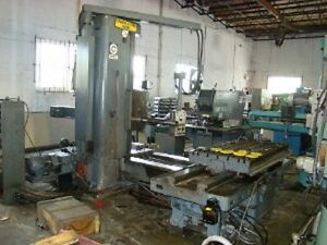 4 Giddings Lewis Fraser 70a dp4 t Table Type Horizontal Boring Mill