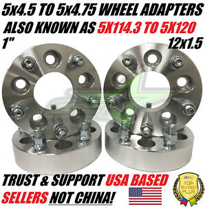 5x4 5 To 5x4 75 Wheel Adapters Spacers 1 Inch Also Known As 5x114 3 To 5x120
