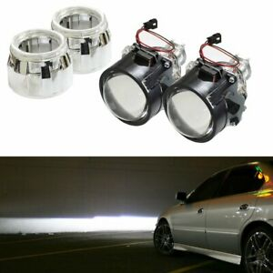 Mini 2 5 H1 Bi xenon Hid Projector Lens W Ae Shroud For Headlight Retrofit Diy