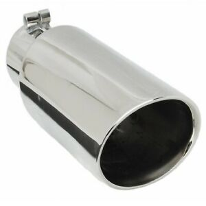 Gibson 500437 Universal Stainless Steel Oval Exhaust Tip 2 375 In 3 5 Out