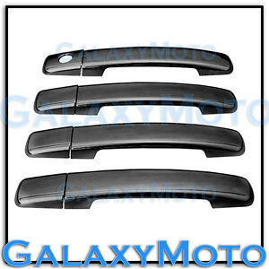 Black Chrome 4 Door Handle Without Psg Keyhole Cover For 04 13 Nissan Frontier