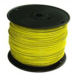 Encore 18 Awg Tfn Solid Copper Wire 500 Ft Spool In Yellow