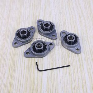 4 X 8mm Mounted Cast Housing Self aligning Pillow Flange Block Bearing