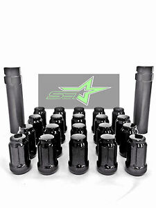 24 Black Spline Lug Nuts 2 Keys 12x1 5 Fits Toyota Fj Tacoma Tundra 4runner