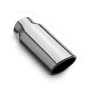 Magnaflow 35129 Universal 2 5 X 3 2 Oval Stainless Weld on Exhaust Tip