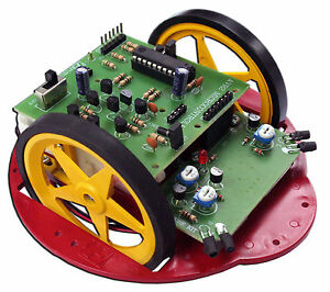 Avr Electronic Obstacle avoiding Robot Kit Re program Unassembled Toy fk1110