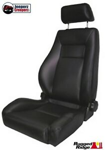 1976 2002 Jeep Cj Yj Tj Ultra Seat W Recliner Headrest Black Denim 13404 15
