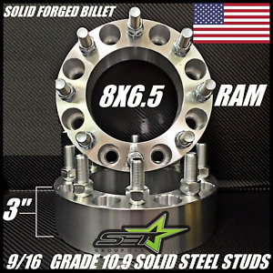 8x6 5 Wheel Spacers 3 Inch Adapters 9 16 18 Dodge Ram 2500 3500 Ford F 250 F 350