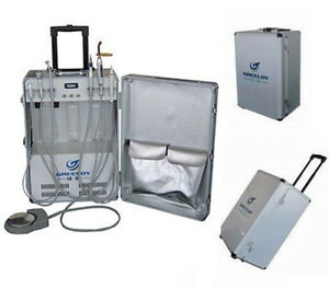 Portable Dental Unit With Air Compressor Ultrasonic Scaler Led Curing Light 4h