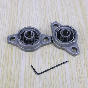 2 X 15mm Mounted Cast Housing Pillow Block Bearing Flange Block Bearing 2pcs
