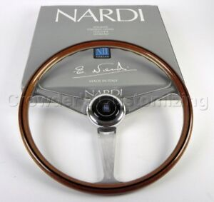 Nardi Steering Wheel Anni 60 380 Mm Mahogany Wood With Polished Spokes New