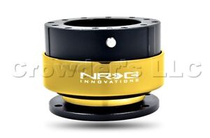 Nrg Quick Release Steering Wheel Hub Kit Black With Chrome Gold Ring Gen 2 0