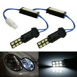 100 Error Free 12 Smd W5w Led Replacement For Audi Bmw Mercedes Parking Lights