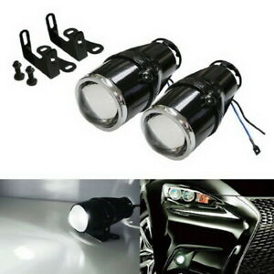 2 25 Bullet Projector Fog Light Lamps For Any Car Suv Truck Bike Add on