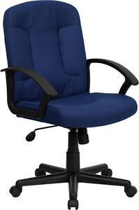 Mid back Navy Fabric Executive Chair With Nylon Arms