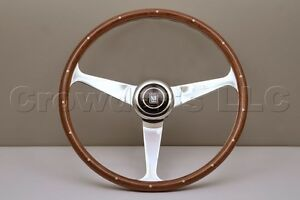 Nardi Steering Wheel Anni 50 Mahogany Wood With Rivets Glossy Spokes 380mm