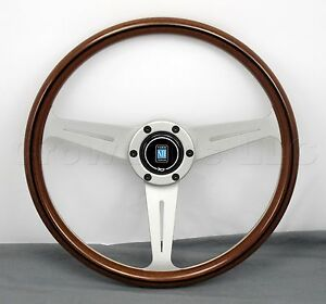 Nardi Classic Wood Steering Wheel 360mm White Spokes Screws At Sight