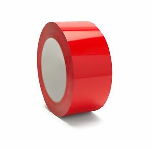 2 Inch X 110 Yard Red Color Carton Sealing Packaging Packing Tape 2 Mil 6 Rolls