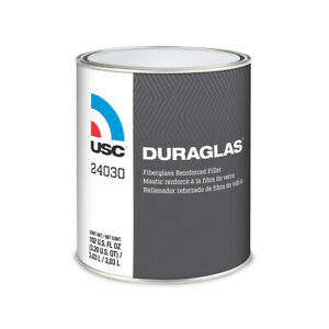 Usc 24030 Duraglas Fiberglass Auto Body Filler With Blue Hardener Gallon