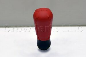 Nardi Gear Shift Knob Drop Red Leather Red Stitching 3182 11 0000 Made In Italy