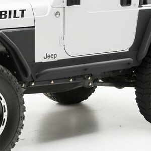 Smittybilt 76865 Xrc Armor Rock Sliders W Step Textured Black 76 87 Jeep Cj7