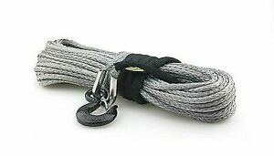 Smittybilt 97780 Xrc Gray Synthetic Winch Rope 8 000 Lb Rated 100 Ft Long