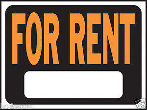 For Rent 8 X 12 Plastic Sign Indoor Outdoor Rental House Apartment Hy ko 3005